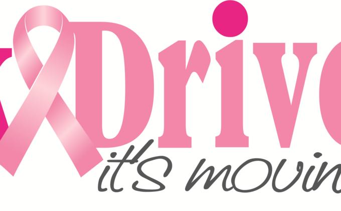Pinkdrive logo with truck
