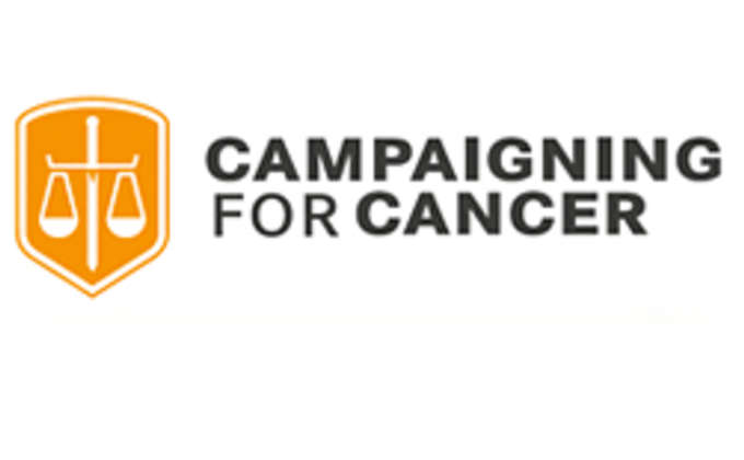 Campaigning for cancer logo